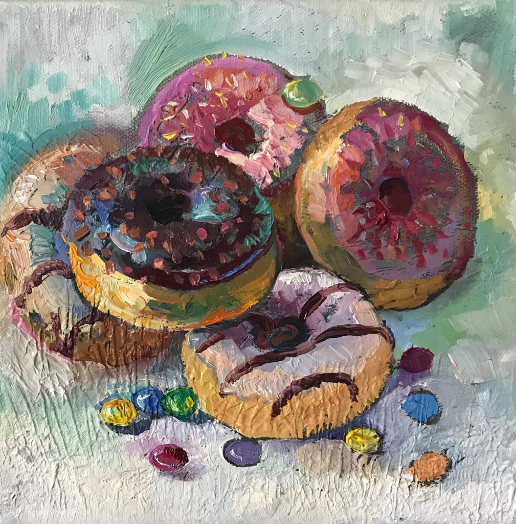 Doughnut Stillleben