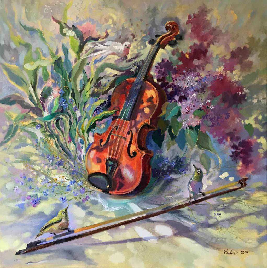 Fantasiestillleben mit Violine
