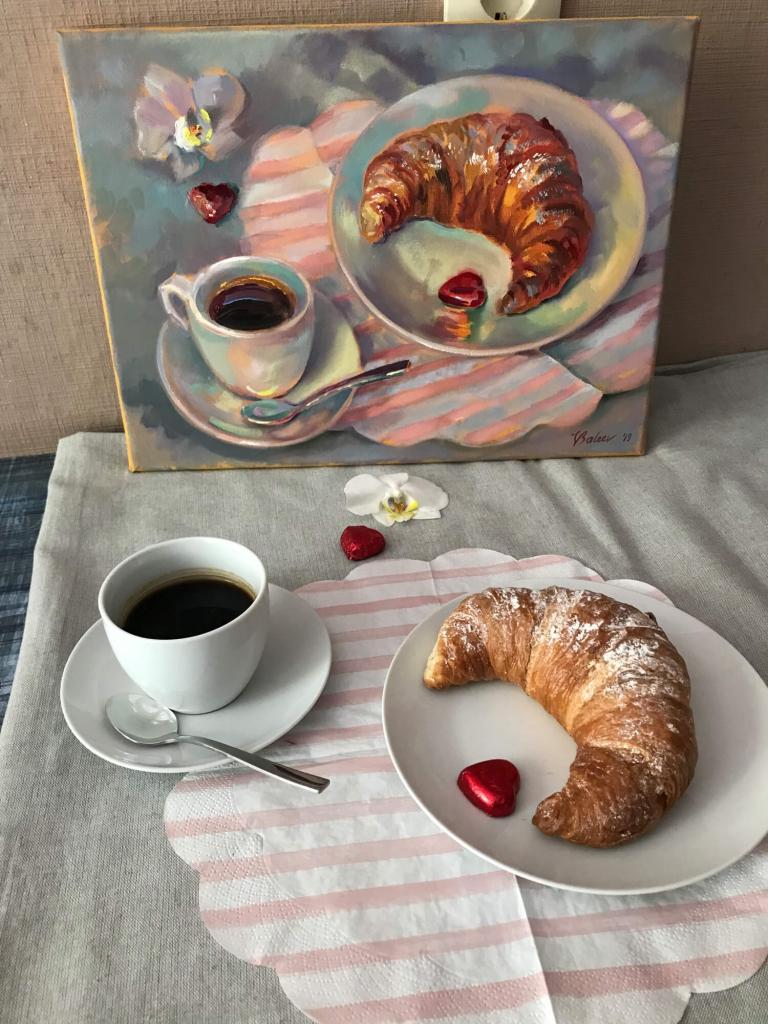 Croissant und Kaffee - Arrangement