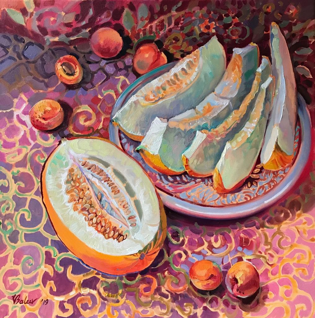 Honigmelone und Aprikosen