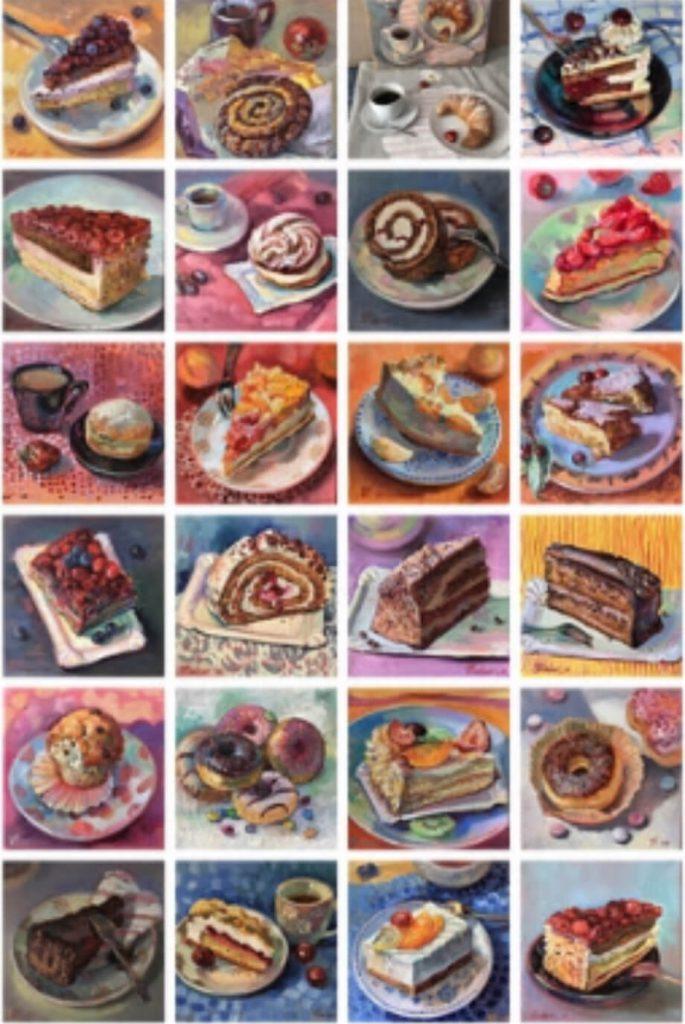 Collage Montagskuchen