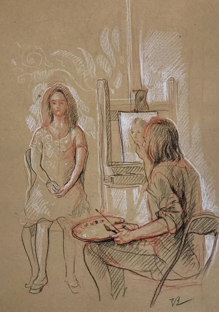 Künstler und Modell