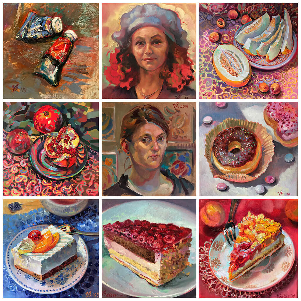Artnika Portraits und Stillleben - Kunst von Katharina Valeeva